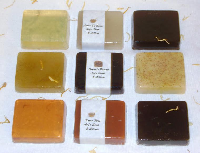 Variedad De Jabones de 2 onz con Aceites Esenciales
