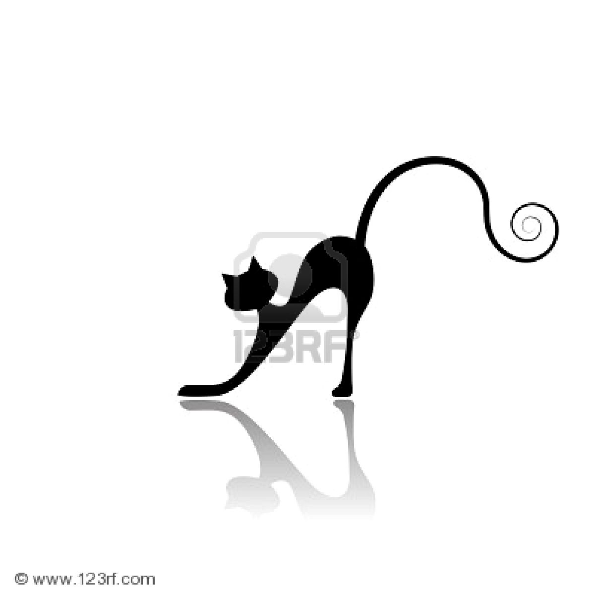 silueta de gato negro - photo #35