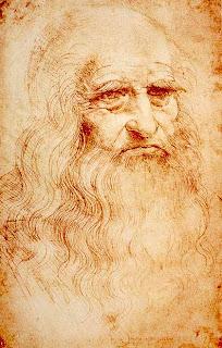 लियोनार्दो का लाल चॉक से बनाया स्वचित्र