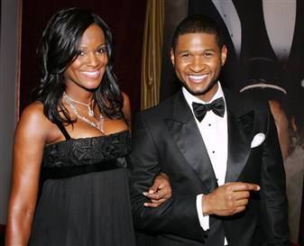 usher and wife.  usher and wife pictures