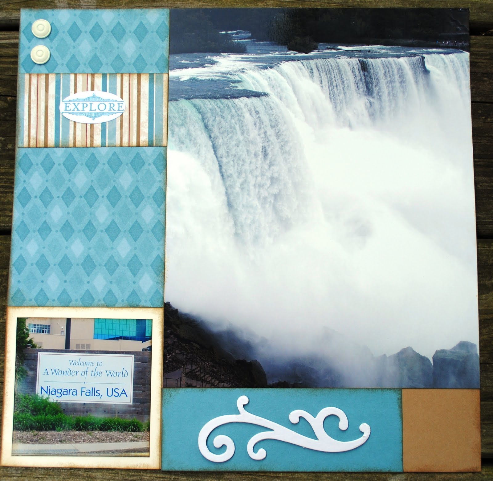 Scrapbook ideas niagara falls - There S No Title But The Bottom Left Photo Clearly States That It S Niagara Falls