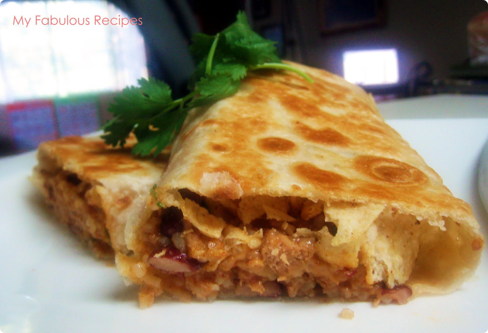 Backup: Crispy Chicken and Rice Burrito