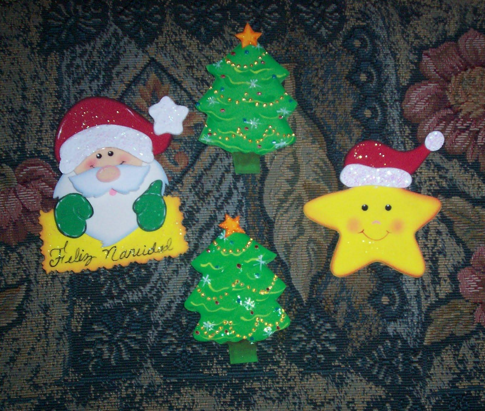 Imanes para la nevera el Santa y la estrella tambien las hace mi ...