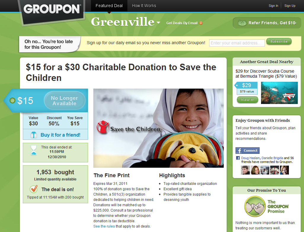 Groupon for Nonprofits: An Event Fundraising Pot of Gold?
