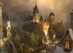 Harry Potter theme park artist rendering