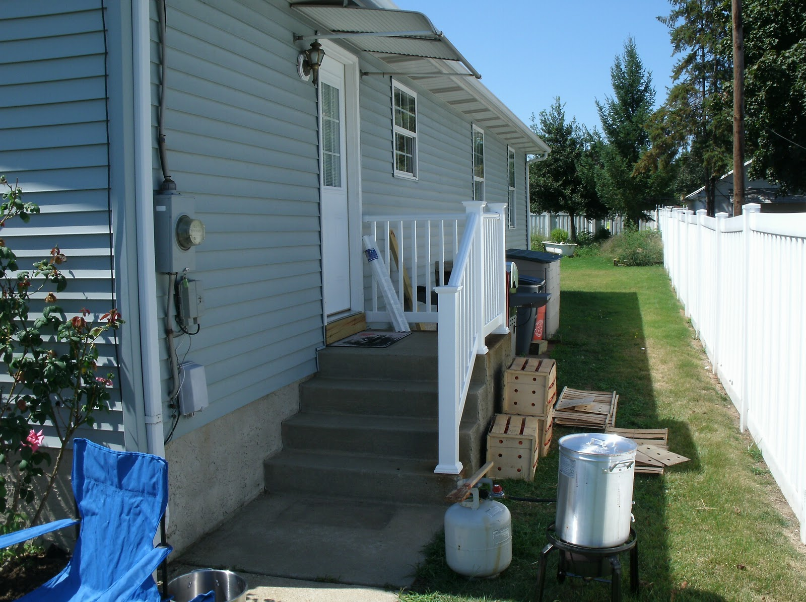 Home remodeling and improvements tips and how tos exterior stair vinyl stair railing severe weather railing baanklon Images