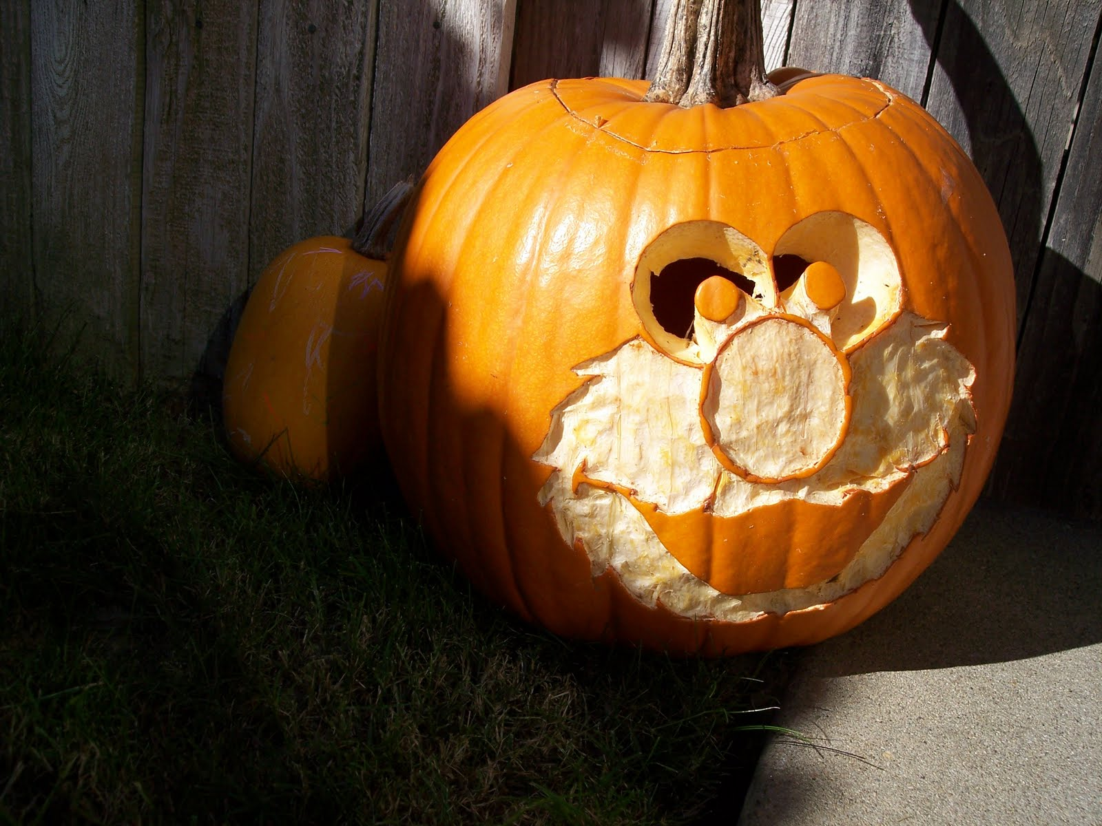 how to make an elmo pumpkin