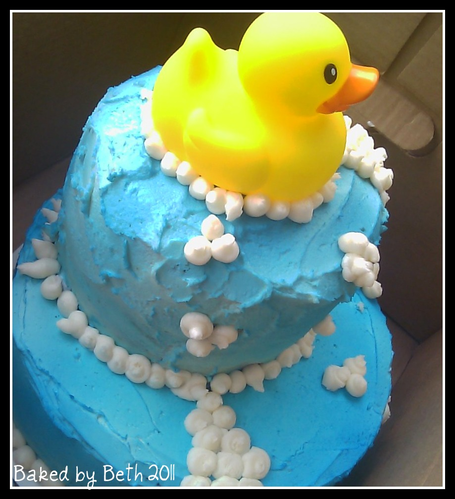 Baked By Beth: Rubber Duck & Diaper Cakes