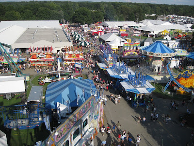 View of the Dutchess County Fair from the top of the ferris wheel.