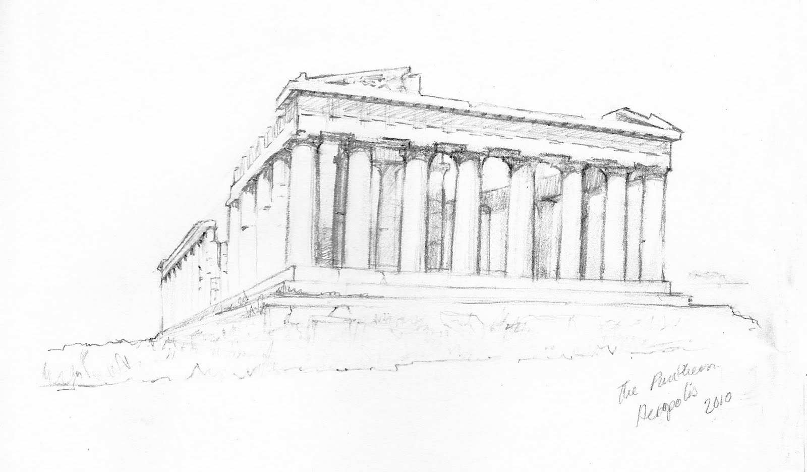 Acropolis Sketch Athens acropolis sketch sketch coloring page