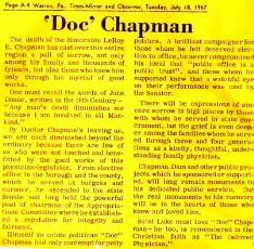 The Eldest Doctor Chapman