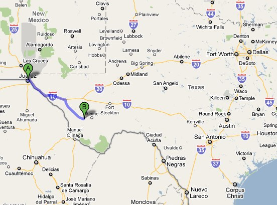 Map Marfa Texas