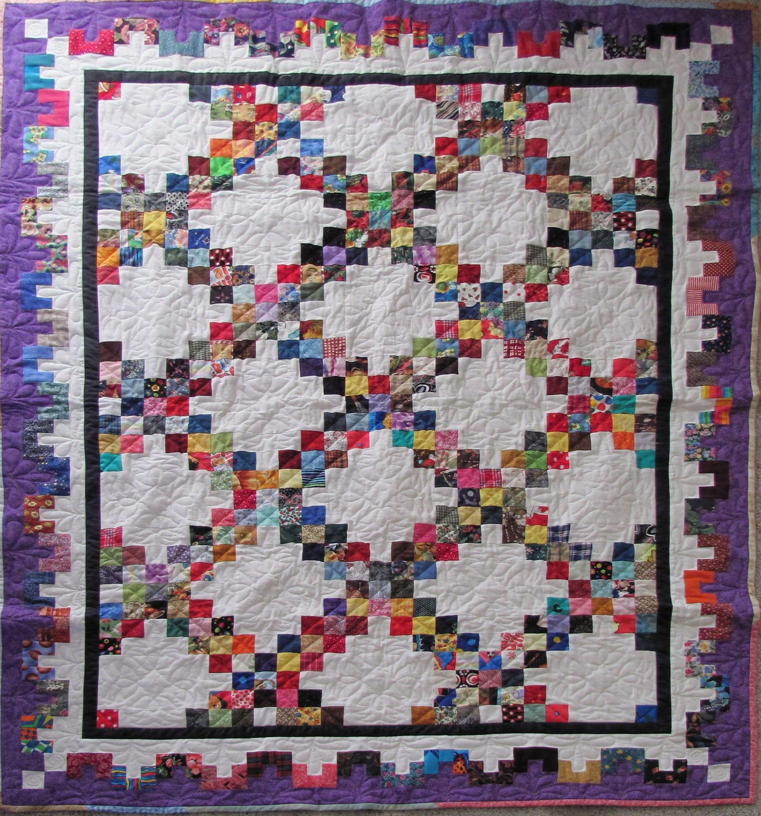 Irish Quilting Patterns : The Proficient Needle: Completed Scrappy Irish Chain