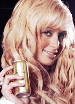Paris Hilton Modelling for Perfume