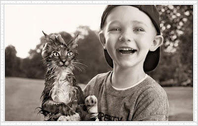 Pictures Of Kid and His Cute or Weird Cat