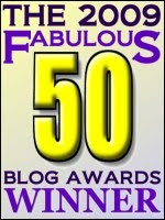 Winner - 2009 Fabulous 50 Blog Awards