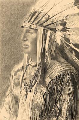 jack+lindien Ilda peint des indiens