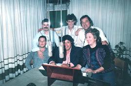 Staff del Show de Carlitos en FM Litoral de Paraná