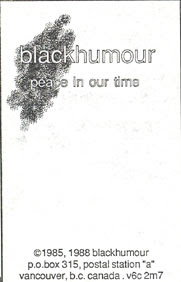 blackhumour - Peace In Our Time