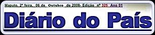 Banner do jornal moçambicano Diário do País
