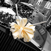 Winter wedding how to decorate a wedding car at the backside have board with love quotes or best of luck or happily married written on it junglespirit Image collections