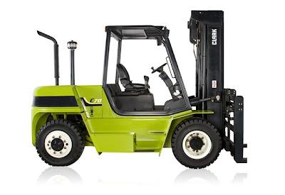 Clark C60 Pneumatic Tire Forklift