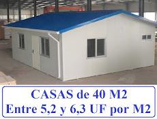 CASAS DE 40 M2 (VALOR M2)