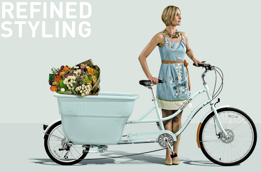 flower delivery by bike