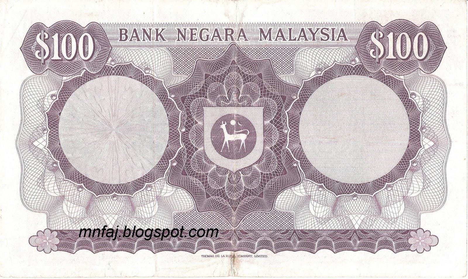 48 malaysia 1st series sa ratus ringgit 1967 1972 first prefix a 1