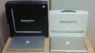 MacBook Pro(Mid2007)と(Late2008)の外箱比較
