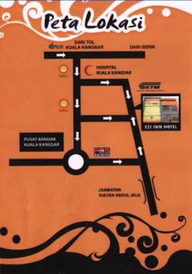 Hotel Ezi Inn Kuala Kangsar Peta Lokasi
