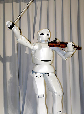 Violin playing robot