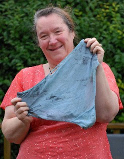 Jenny Marsey with her blackened knickers