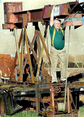 Joe Weston-Webb and his 30ft Roman catapult
