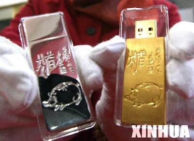 Gold and Silver USB Drives