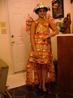 Dress made of ramen packets