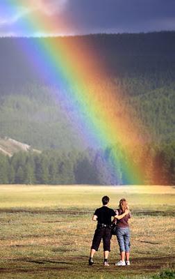 A spectacular rainbow