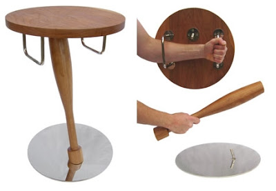 Furniture that doubles as a weapon and shield