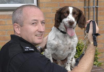 Steve Tugwell and Frodo the dog