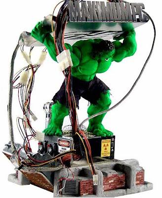 Incredible Hulk PC case mod