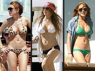 Lindsay Lohan+sexy bikini