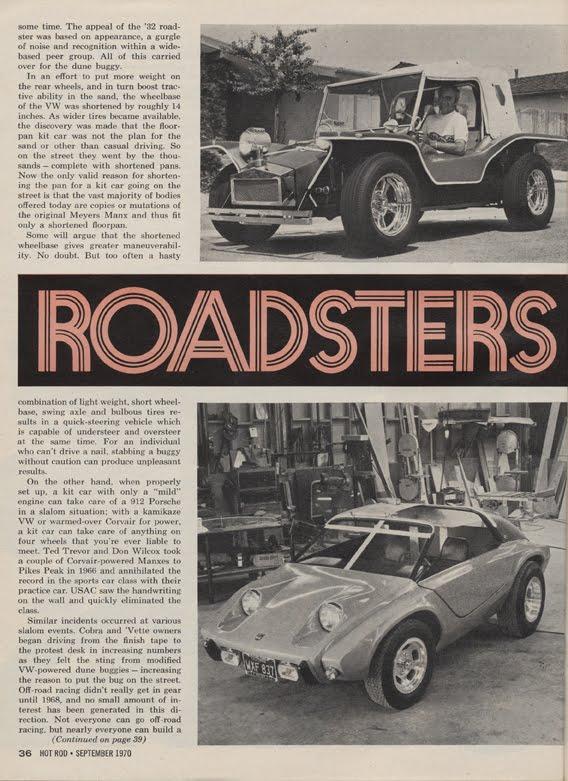 big blues  carburetor september  hot rod magazine vw based kit cars