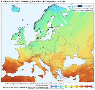 Photovoltaic Solar Electricity Potential in European Countries - European Commission JRC 2006