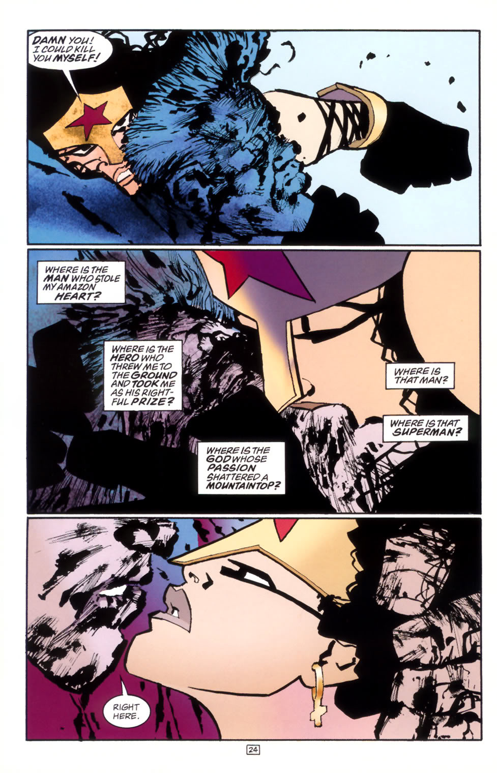 graphic nyc frank miller part 2 on pastiche directing and the lara at stake superman finally finds the courage to become super once more strikes again can just as easily be called the man of steel returns