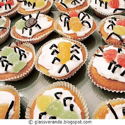 Glassverandas skumle muffins for sultne små hekser, spøkelser og skjeletter!