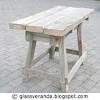 Prosjekt Fra slipestein-bord til sukkulentbord i hagen, før - etter bilder