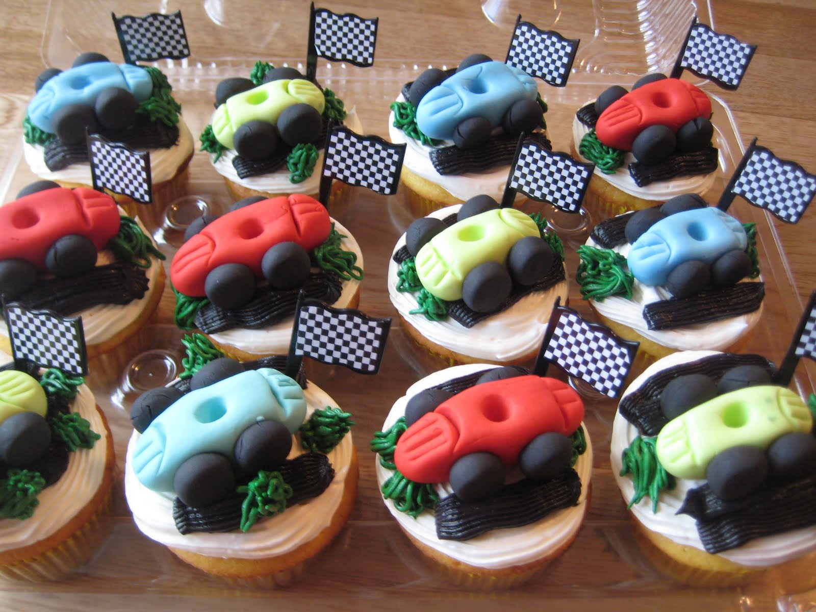 Pin With Edible Race Car Toppers For A Hot Wheels Themed Birthday Party Cake On Pinterest