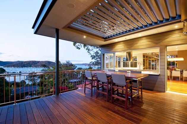 The girl in the brick house weatherboard cladding for Luxury balcony design