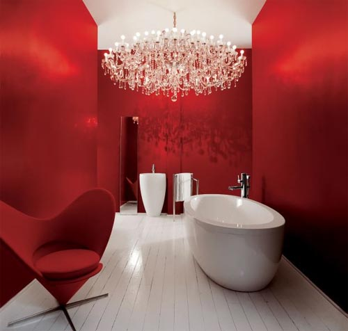 Designer Bathroom Lighting But that just won't work in our bathroom. Image via Modeco