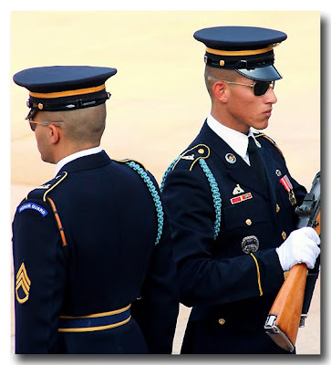 Sargent Inspects Guard - Arlington National Cemetery